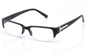 Kính mắt Newbee Fashion® - IG Unisex Clear Lens Sleek Half Frame Slim Temple Fashion Glasses