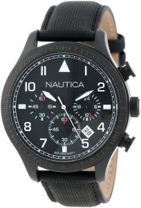 Đồng hồ Nautica Unisex N18685G BFD 105 Stainless Steel Watch with Black Cloth Band