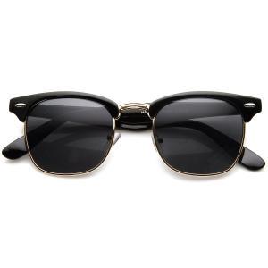 Kính mắt zeroUV® - Designer Inspired Classic Half Frame Horned Rim Wayfer Sunglasses