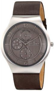 Đồng hồ Skagen Men's SKW6116 Grenen Analog Display Japan Dark Brown Leather Watch