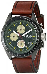 Đồng hồ Fossil Men's CH2920 Stainless Steel Watch with Brown Leather Band