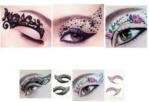 Trang trí mắt Hitece 10 paires Temporary Eye Tattoo Transfer Eyeshadow Stickers Eyeliner
