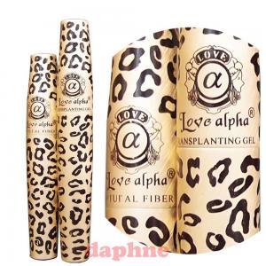 Uốn mi mắt 2 Sets (4 tubes) Love Alpha LA729 English Version (Gel & Fiber) Mascara Set - Brush on False Eyelashes