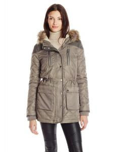 Áo khoác nữ BCBGeneration Women's Sherpa Lined Parka with Quilted Sleeves
