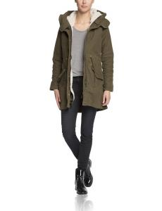 Áo khoác nữ Maison Scotch Women's Cotton Parka with Hooded Inner Jacket
