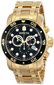 Đồng hồ Invicta Men's 0072 Pro Diver Collection Chronograph 18k Gold-Plated Watch