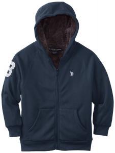 Áo khoác trẻ em U.S. Polo Assn. Big Boys' Sherpa Lined Fleece Hoooded Jacket