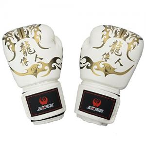Găng tay Boxing Gloves - Wulong High-Grade PU Imitation Leather Boxing Gloves White