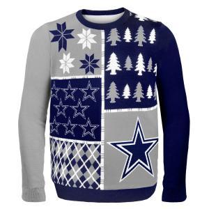 Áo thu đông NFL Football 2014 Ugly Christmas Sweater Busy Block Design - Pick Team! (Dallas Cowboys, Medium)
