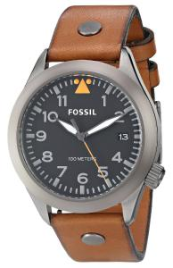 Đồng hồ Fossil Men's AM4561 Stainless Steel Watch with Brown Leather Band