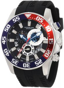 Đồng hồ Stuhrling Original Men's 287A.331613 Nautical Nautico Sport Swiss Quartz Multi-Function Black Watch