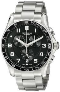 Đồng hồ Victorinox Men's 241650 Chrono Classic Analog Display Swiss Quartz Silver Watch