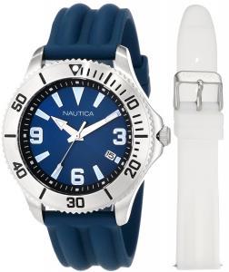 Đồng hồ Nautica Men's N12633G NAC 102 Date Box Set Classic Analog Watch