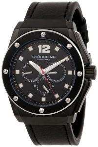 Đồng hồ Stuhrling Original Men's 469.33551 Special Reserve Apocalypse Midnight Quartz Multi-Function Black Leather Strap Watch