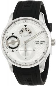 Đồng hồ Louis Erard Men's 54209AS11.BDE03 1931 Power Reserve Black Rubber Strap Watch