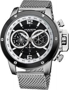 Đồng hồ Akribos XXIV Men's AK515SSB Conqueror Mesh Bracelet Multi-Function Watch