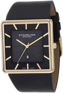 Đồng hồ Stuhrling Original Men's 342.33351 Classic Ascot Saratoga Swiss Quartz Ultra Slim Date Gold Tone Watch