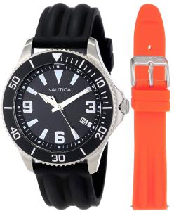 Đồng hồ Nautica Men's N12634G NAC 102 Date Box Set Classic Analog Watch