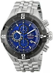 Đồng hồ Invicta Mens Reef Pro Diver XXL Chronograph Black IP Bezel Blue Dial Stainless Steel Watch 12365