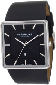 Đồng hồ Stuhrling Original Men's 342.33151 Classic Ascot Saratoga Swiss Quartz Ultra Slim Date Black Leather Strap Watch
