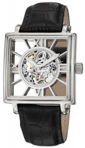Đồng hồ Stuhrling Original Men's 295.33152 Classic Winchester Square Automatic Skeleton Silver Tone Watch