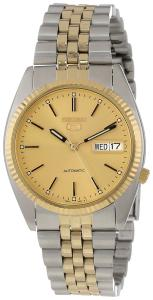 Đồng hồ Seiko Men's SNXJ92 Seiko 5 Automatic Gold Dial Two-Tone Stainless-Steel Watch