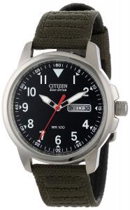 Đồng hồ Citizen Men's BM8180-03E Eco-Drive Canvas Strap Watch