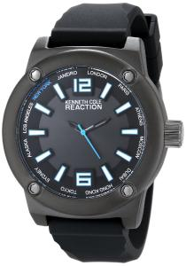 Đồng hồ Kenneth Cole REACTION Unisex RK1381 Street Fashion Analog Display Japanese Quartz Black Watch