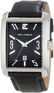 Đồng hồ Ted Lapidus Men's 5115601 Black Dial Black Leather Watch