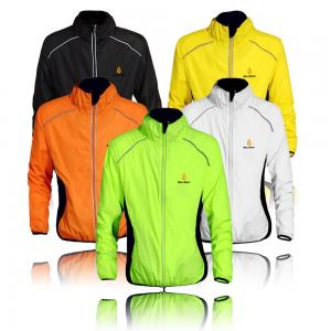 Áo khoác WOLFBIKE Cycling Jacket Jersey Sportswear Running Biking Jacket Long Sleeve Wind Coat Breathable Quick Dry, Available 5 Colors - Black White Green Orange Yellow. Please Choose Your Size according to Your Chest Measurement in Inch