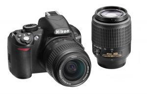 Máy ảnh Nikon D3100 14.2MP Digital SLR Double-Zoom Lens Kit with 18-55mm and 55-200mm DX Zoom Lenses (Black) (OLD MODEL)
