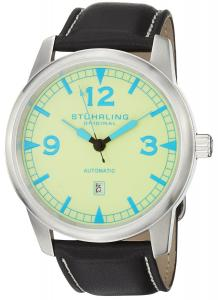 Đồng hồ Stuhrling Original Men's 129A2.331513 Aviator Tuskegee Thunderbolt Automatic Date Light Green Watch