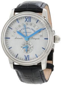 Đồng hồ Stuhrling Original Men's 340.331592 Symphony Saturnalia Chairman Automatic Day and Date Black Leather Strap Watch