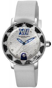 Đồng hồ Stuhrling Original Women's 225R.1116P2 Nautical Regatta Marina Sport Swiss Quartz Swarovski White Rubber Strap Watch