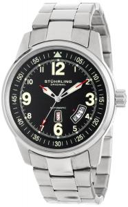 Đồng hồ Stuhrling Original Men's 378B.33111 Aviator Tuskegee Elite Automatic Day Date Black Dial Watch