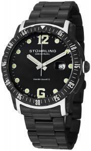 Đồng hồ Stuhrling Original Men's 421.335B1 Octane Concorso Trofeo Swiss Quartz Date Black Bracelet Watch