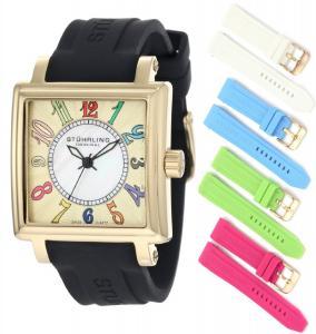 Đồng hồ Stuhrling Original Women's 149L3.123631 Vogue Ozzie Dream Swiss Quartz Mother-Of-Pearl Black Strap Set Watch