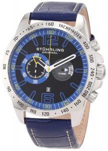Đồng hồ Stuhrling Original Men's 210B.3315C81 Octane Concorso Swiss Quartz Chronograph Blue Watch with Date