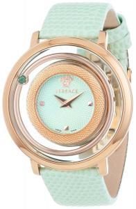 Đồng hồ Versace Women's VFH040013 Venus Round Stainless Steel Light Green Genuine Topaz Quartz Watch