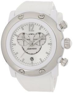 Đồng hồ Glam Rock Women's GW25119 Miami Beach Silver Dial Silicone Chronograph