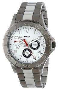 Đồng hồ Timex Men's T2P038KW Ameritus Retrograde Two-Tone Gray Stainless Steel Bracelet Watch