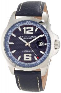 Đồng hồ Đồng hồ Stuhrling Original Men's 175.3315C6 Octane Concorso Automatic Date Blue Watch