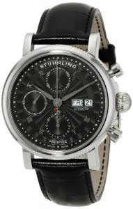 Đồng hồ Stuhrling Original Men's 139.02 Prestige Prominent Analog Display Swiss Automatic Black Watch
