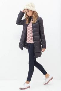 Áo khoác nữ Forever21 Zippered Puffer Jacket