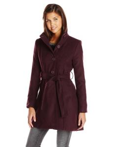 Áo khoác BB Dakota Women's Galice Hi Low Belted Melton Fit and Flare Coat
