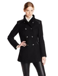 Áo khoác Kensie Women's Double Breasted Wool Military Coat