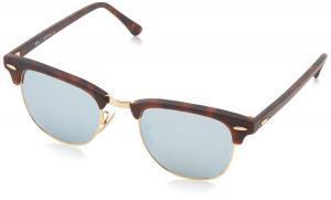 Kính mắt Ray-Ban Men's Clubmaster Square Sunglasses,Sand Havana & Gold,49 mm