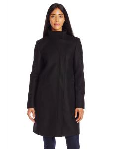 Áo khoác Marc New York by Andrew Marc Women's Taylor Funnel-Neck Wool Coat