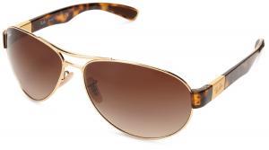Kính mắt Ray-Ban mens 0RB3509 004/7163 Pilot Sunglasses
