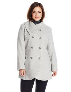 Áo khoác Jessica Simpson Women's Plus-Size Double-Breasted Envelope-Collar Wool Coat